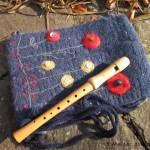 Flötentasche aus Filz. Eigenes Design.