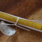 Bienenwachskerze mit Goldschrift 2€